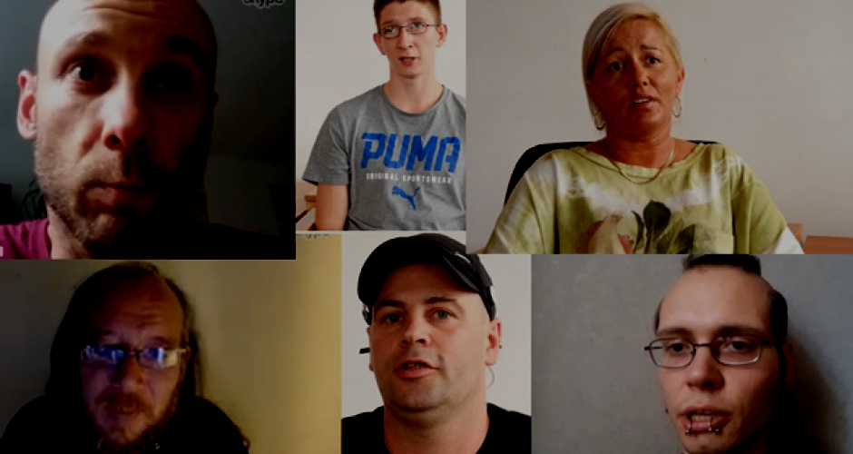 six Amazon workers