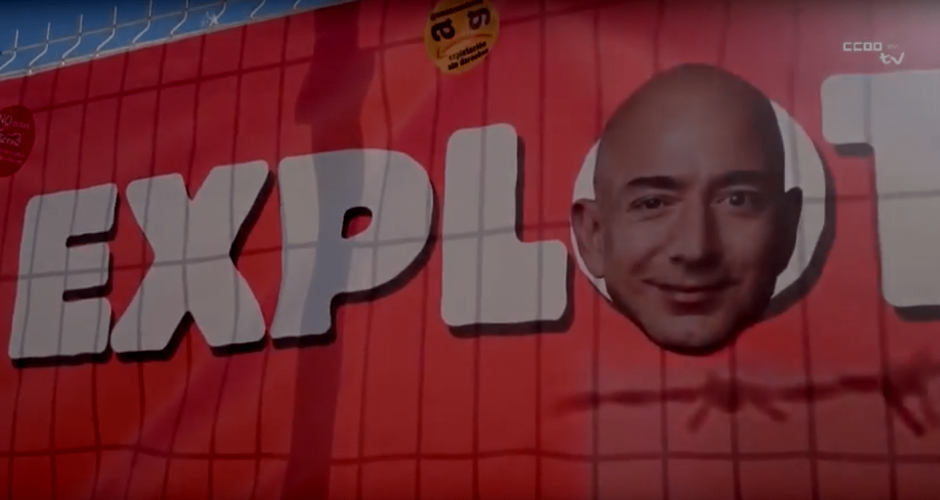 Jeff Bezos exploits workers