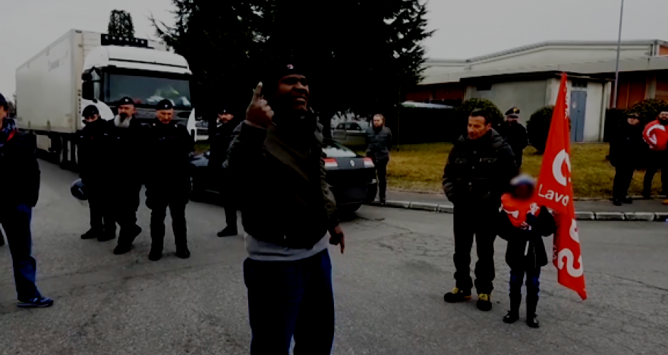 Until victory Picket at Levoni plant in Modena