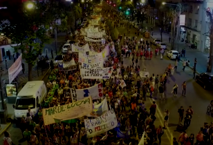 Feminist demonstration in Rosario