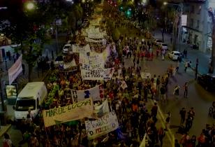 Feminist demonstration in Rosario