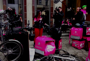 Protest bei Foodora in Berlin