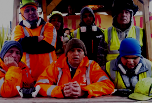 7 recycling plant workers in london